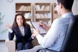 Medical concept with psychologist visit