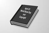 April 23 - World Book Day and Copyright, book vector illustration,