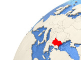 Bulgaria on globe