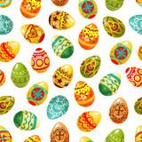 Easter egg seamless pattern background