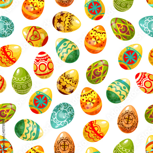 Materiał do szycia Easter egg seamless pattern background