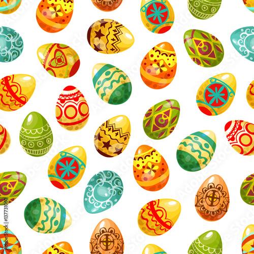 Materiał do szycia Easter egg seamless pattern background