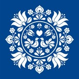 Hungarian folk vector motif - 137734267