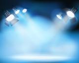 Spotlighting on the stage. Vector illustration. - 137760861