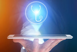 Concept of making an appointement with a doctor on internet - technology concept