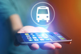 Concept of booking bus ticket online - travel concept