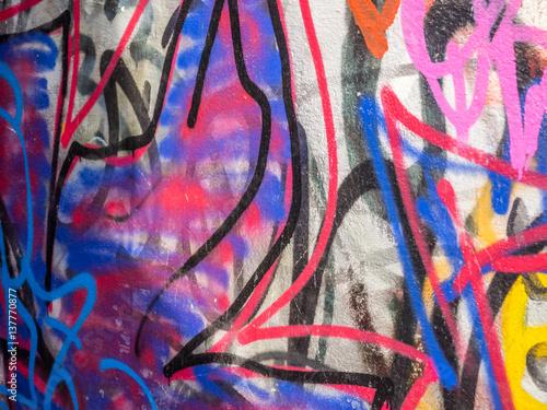 Tuinposter Graffiti Sachbeschädigung