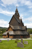 Norwegian stave church. Heddal. Historic building. Norway tourism highlight.