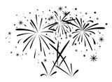 Fototapety vector abstract black and white bursting fireworks