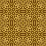 Seamless gold and brown floral girih pattern