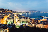 Naples, view of the city and bay by night