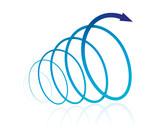 螺旋 矢印(青) - 137796087