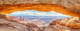 Mesa Arch panorama at sunrise, Canyonlands National Park, Utah, USA - Fine Art prints