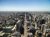 Aerial view of Paulista Avenue in Sao Paulo, Brazil - 137802275