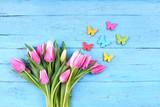 Schmetterlinge und Tulpen - Frühling
