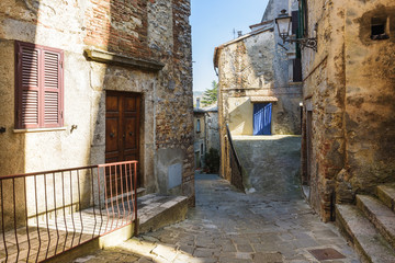 Hidden alley somewhere in the Tuscan town of San Casciano dei Bagni.