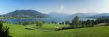 Fototapety Panoramablick auf den Tegernsee und Wallberg