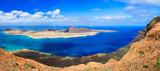 Scenery of Lanzarote - panoramic view from Mirador del Rio. Canary islands