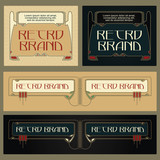 Vintage frame design for labels, banner, sticker and other design.