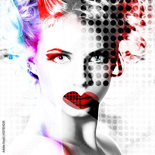 nowoczesny-plakat-z-portretem-dziewczynki