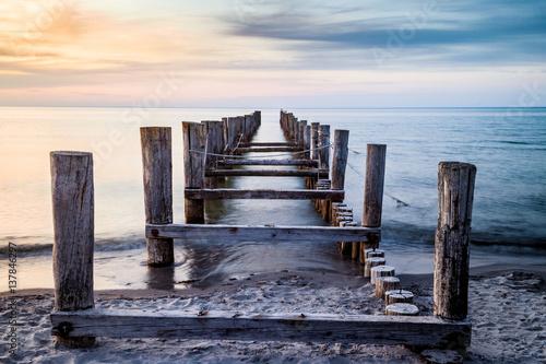 Plaża nad Morzem Bałtyckim Zingst