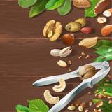 Vector illustration of nutcracker and nuts