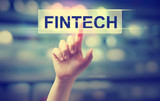 Fintech concept with hand