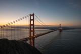 Golden Gate Bridge Taken from Battery Spencer During Sunrise in San Francisco, California