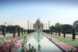 The mausoleum of the Taj Mahal at Agra in northern India