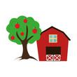 farm stable seal icon vector illustration design