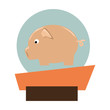 pork animal farm icon vector illustration design