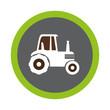 tractor farm seal icon vector illustration design