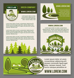 Landscape eco design service vector set
