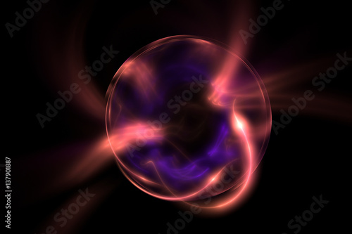 Staande foto Abstract wave 3D rendering abstract fractal light background