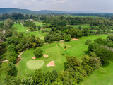 Green Golf Aerial View