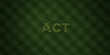 ACT - fresh Grass letters with flowers and dandelions - 3D rendered royalty free stock image. Can be used for online banner ads and direct mailers..