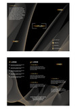 minimal vector Brochure design, brochure template, creative tri fold, trend brochure on black background