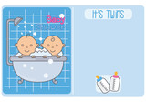baby shower. It´s twins. Bathing twins