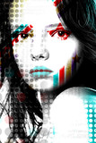 Bright poster beautiful girl in pop-art style..
