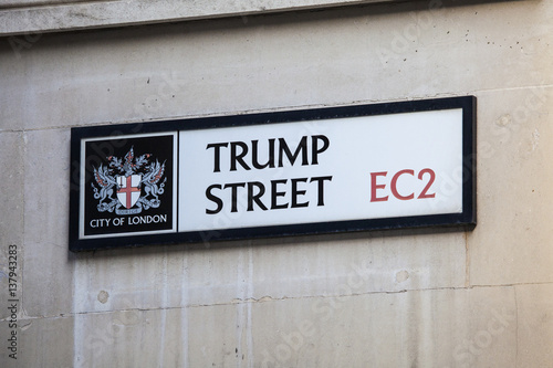 Trump Street in the City of London. Poster