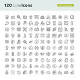Set of premium concept icons for education and environment. Thin line vector icons for website design and development, app development, marketing presentation and print material. - 137950013