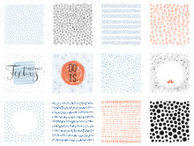 Square S And Sketch Dots Textures  Illustration Sticker