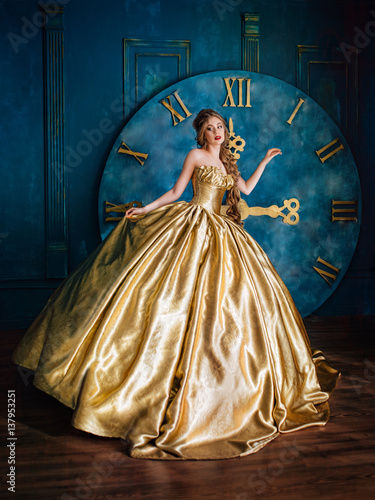 Plakat Beautiful woman in a ball gown
