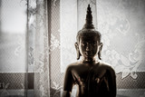 Almost silhouette gold buddha