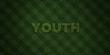 YOUTH - fresh Grass letters with flowers and dandelions - 3D rendered royalty free stock image. Can be used for online banner ads and direct mailers..
