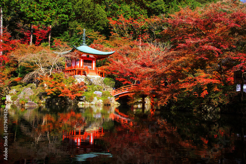 Obraz Daigoji at autumn, Kyoto