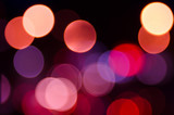 colorful night bokeh