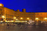Piazza del Campo in Siena, Tuscany, Italy, Europe