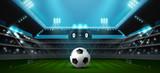 Piłka nożna piłkarski stadion reflektor