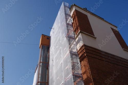 Poster Echafaudage sur un immeuble